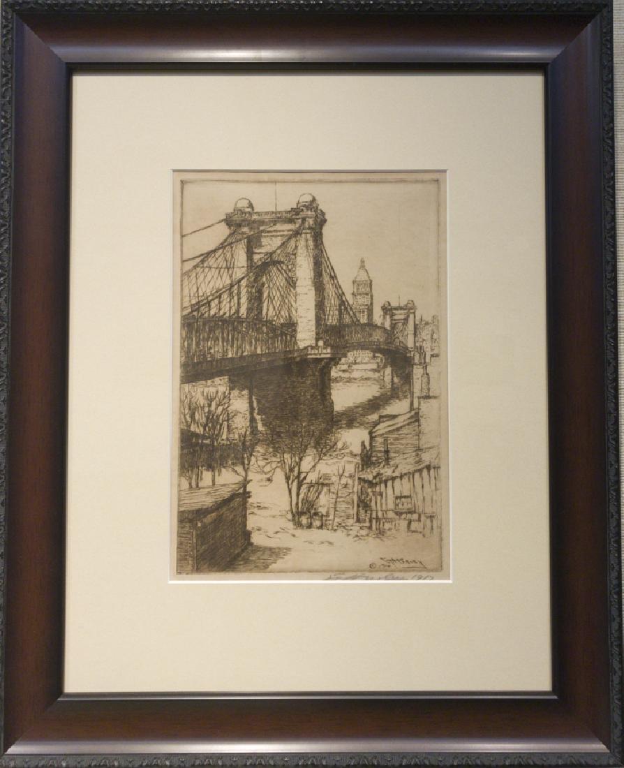Edward Timothy Hurley 1869-1950 Suspension Bridge