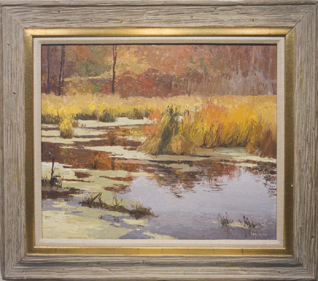 Ken Gore 1911-1991 Autumn at the Marsh