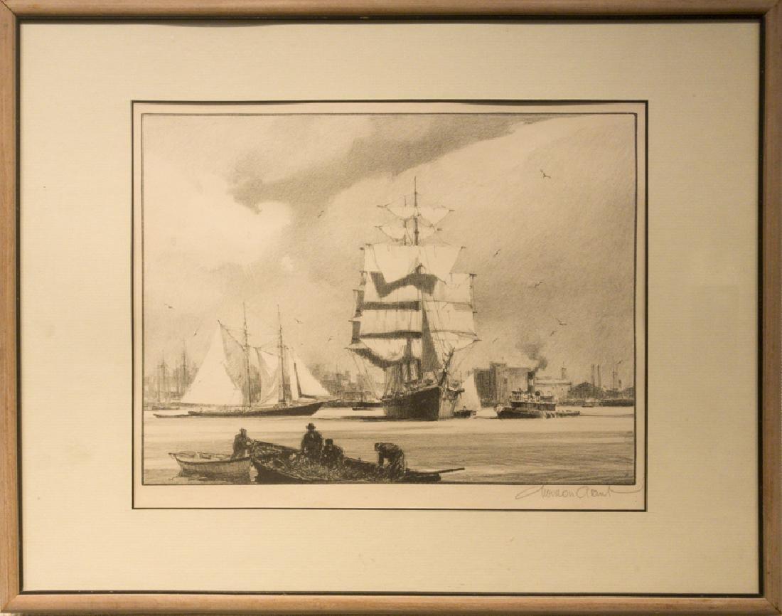 Gordon Grant 1875-1962 The Salt Barque - Gloucester
