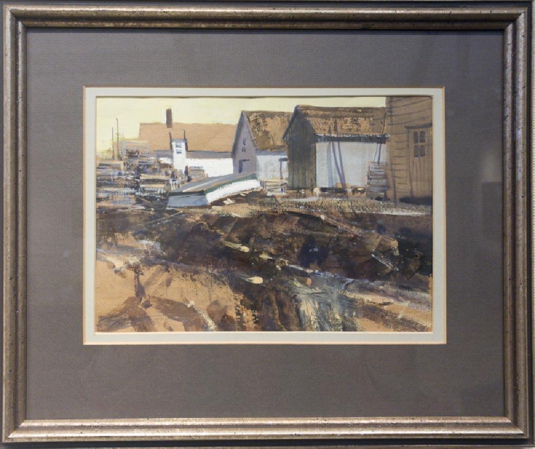 George Carpenter 1928-2006 Fishing Huts, Ogunquit