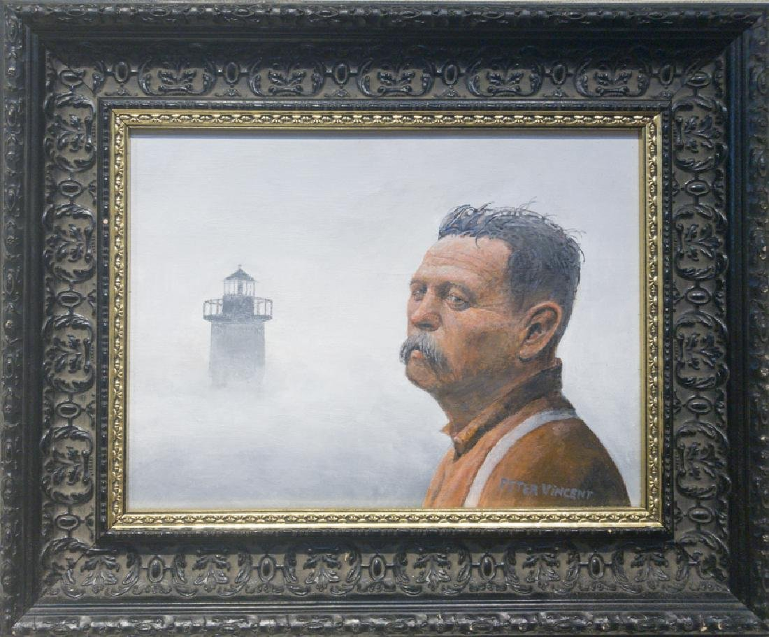 Peter Vincent 1946-2012 Lighthouse in Fog