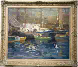 Antonio Cirino 1888-1983 Day's Catch at the Docks