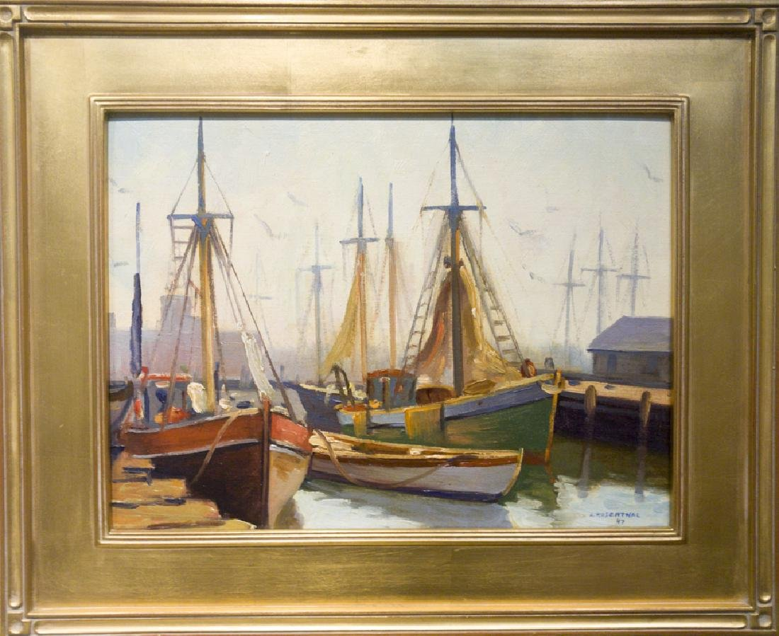 Abraham Rosenthal 1886-1963 Gloucester Fishing Boats