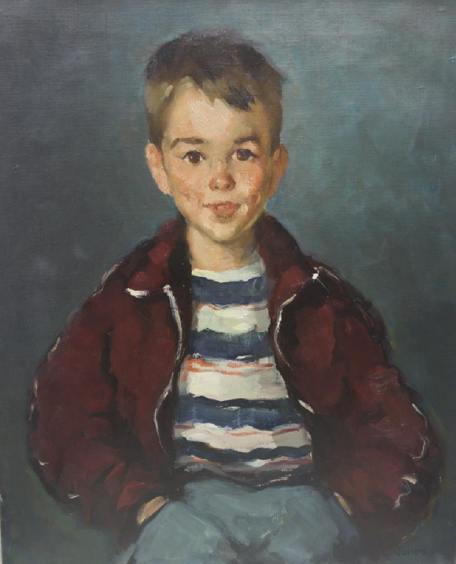 Mildred Jones 1899-1992 Douglas with Striped Shirt