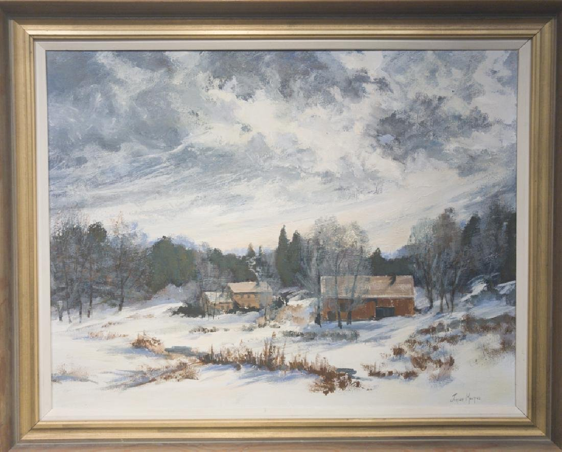 Jerush Montez 20th Cent. Winter Landscape