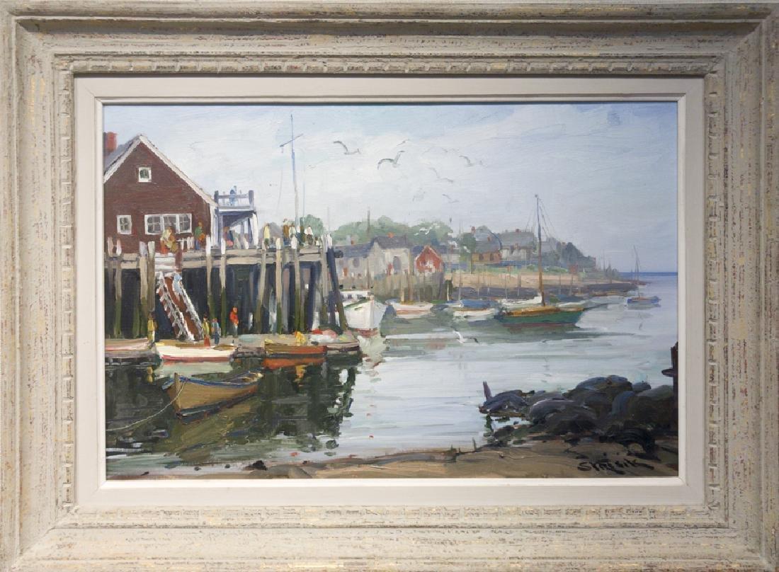 Paul Strisik 1918-1998 Rockport Harbor Pier