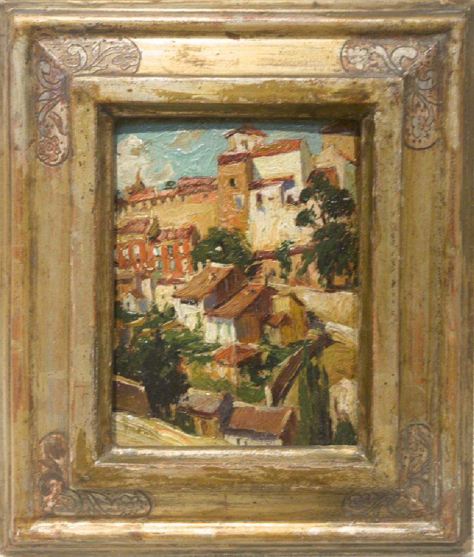 Max Kuehne 1880-1968 Village Scene
