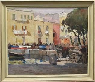 Anthony Thieme 1888-1954 Neopolitan Street Scene