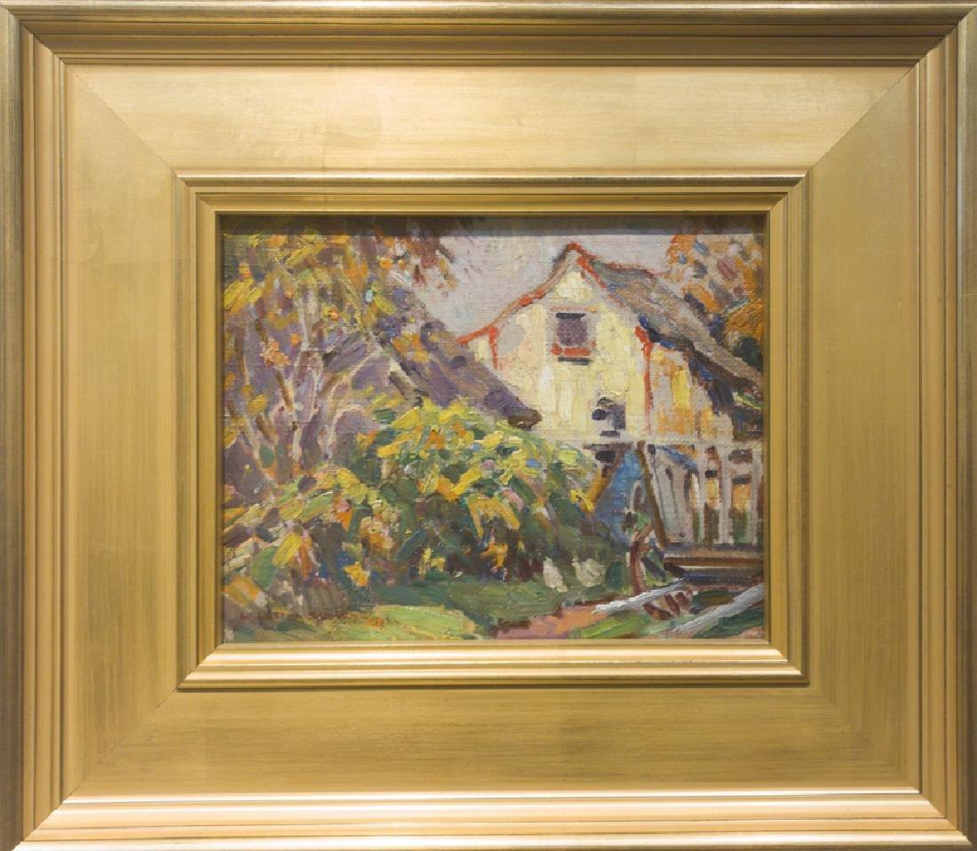W. Lester Stevens 1888-1969 Autumn Landscape with House