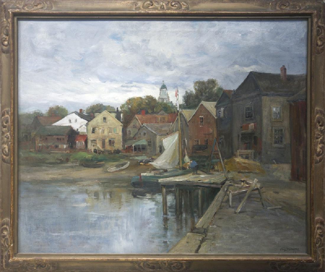 Charles Paul Gruppe 1860-1940 Rockport Wharf