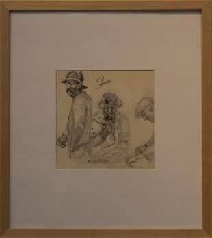 Peter Vincent 19462012 Fisherman Sketch