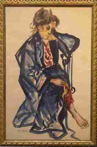 Al Czerepak 19281986 Lady with Kimono