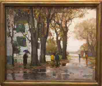 Anthony  Thieme  1888-1954  South Street Rain