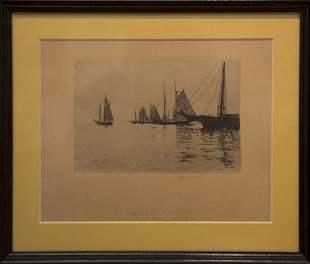 George Wainwright Harvey 18351920 Misty Afternoon