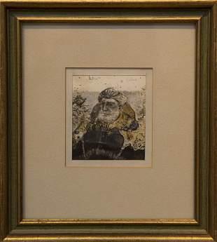 Nicholas Scalise 19322009 Man and Bird in a Bush