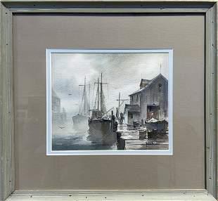 John C. Hare 1908-1978 In Gloucester Harbor