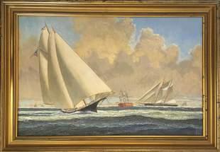 Bruce Roberts 1917-1993 Sailing Scene