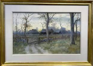 Samuel R. Chaffe 1850-1913 New England Landscape