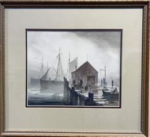 John C. Hare 1908-1978 Early Morning Fog, Cape Cod