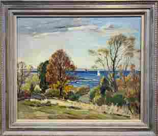 Antonio Cirino 1888-1983 New England Landscape
