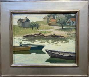 Emma Fordyce MacRae 1887-1974 Reflections, Fisherman's