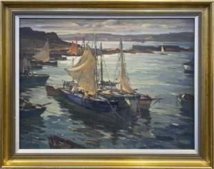 Antonio Cirino 1888-1983 Inner Harbor Cape Ann