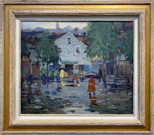 Antonio Cirino 1888-1983 The Rainy Day