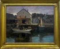 Charles Paul Gruppe  1860-1940 Rockport Dock