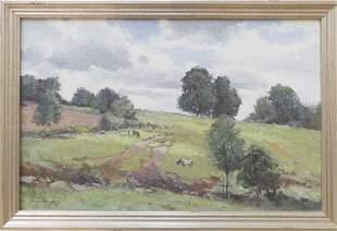 Bernard Corey (1914-2000) Grazing Cows, Groton MA