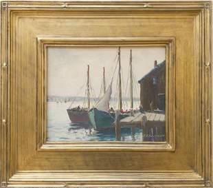 J.J. Enwright (1911-2001) Docked, Casco ME