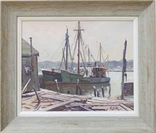 Otis Cook (1900-1980) Rockport Harbor