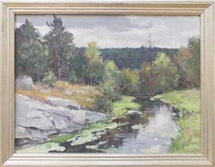 Bernard Corey (1914-2000) The Autumn Stream, Western MA