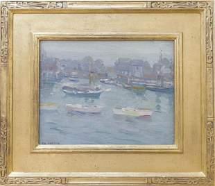 Charles Kaelin (1858-1929) Harbor Scene, Rockport