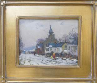Antonio Cirino (1888-1983) Winter Church