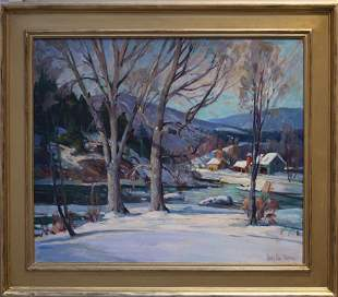 James King Bonnar (1883-1961) Along the River in Winter
