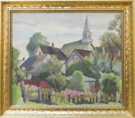 H. Robert Smith (1894-1990) Village Scene