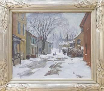 W. Lester Stevens (1888-1969) Winter Scene