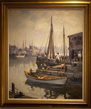 Emile Gruppe (1896-1978) Morning, Gloucester Harbor