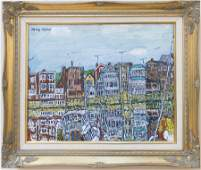 Henry Kaplan (1917-2003) Reflections - Old Harbor,