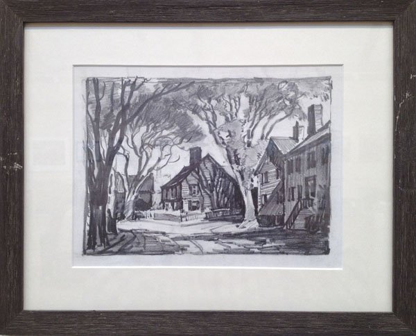"9: Attributed to Ted Kautzky ,""Rockport Street"""