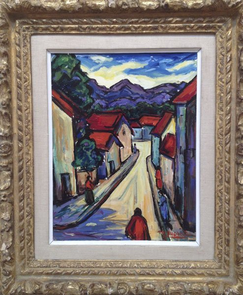 "11: Maxim Bugzester ,""Street View With Figure"""
