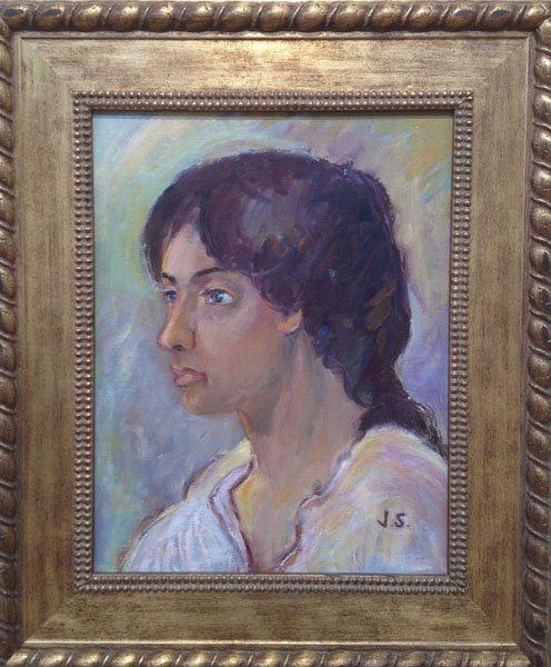 """114: Joseph Solman Portrait Of A Woman"""""""