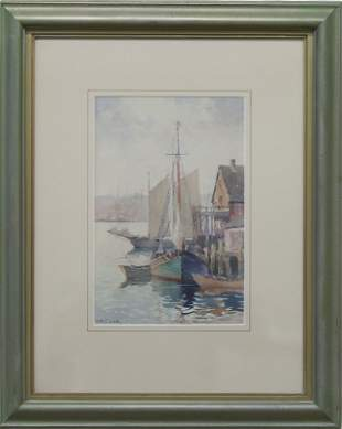 "John A. Cook, ""Gloucester Harbor, 1935"""