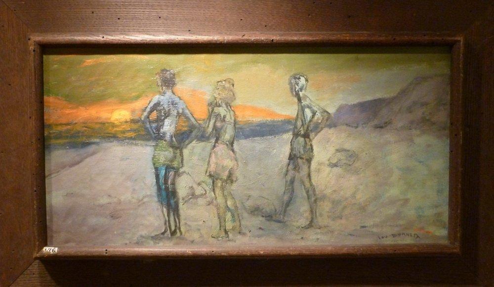 """Lou Burnett, """"Sunset Swim"""""""