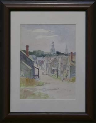 "Fanny A. Nichols Topanelian, ""Old Rockport Streets"""