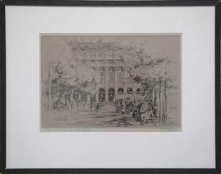 """Lester Hornby, """"Dans Le Jardin du Palais Royal"""""""