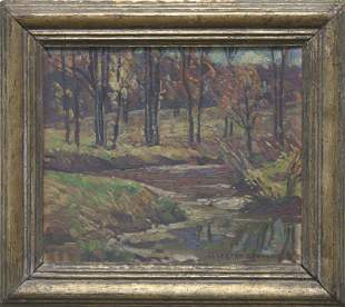 "W. Lester Stevens, NA, ""Autumn Landscape"""