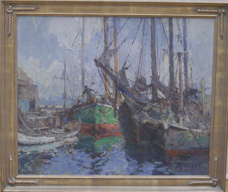 """Harry Aiken Vincent, """"Boats At Rest"""""""