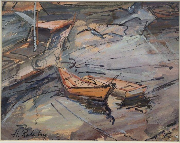 """Harold Rotenberg, """"Boats"""""""