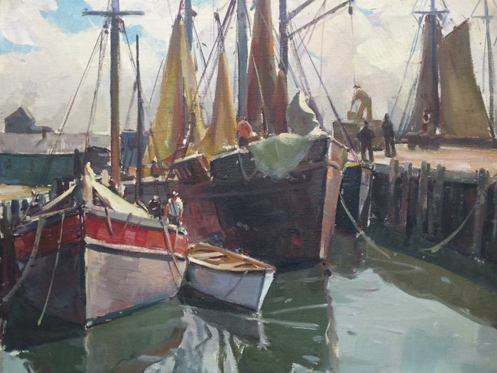 "Attributed to Carl W. Peters, ""Boats, Gloucester"""